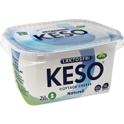 Cottage cheese Naturell Laktosfri 4% 250g Keso