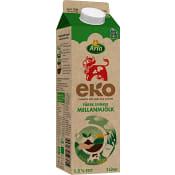 Mellanmjölk 1,5% 1l KRAV Arla