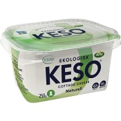 Cottage cheese Naturell 4% 250g KRAV Keso