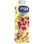 Yoghurt Jordgubb & vanilj 2% Laktosfri 1l Yoggi