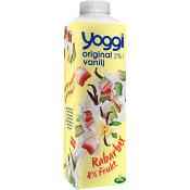 Yoghurt Rabarber & vanilj 1l Yoggi