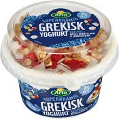 Mild grekisk yoghurt med müsli kokosflarn &j ordgubbar 188g Arla Ko