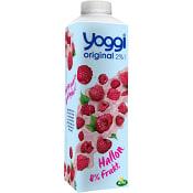 Yoghurt Krämig hallon 2% 1000g Yoggi