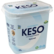 Cottage Cheese Supermini 0,2% 500g Keso