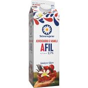 A-fil Jordgubb & vanilj 3% 1l Skånemejerier