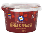 Crème fraiche Gourmet Soltorkad Tomat & fetaost 30% 2dl Skånemejerier
