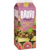 Ananas & guavajuice med äpple & apelsin 2l  Bravo