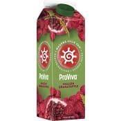 Fruktdryck Hallon & granatäpple 1l Proviva