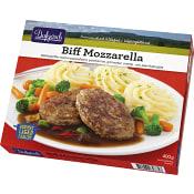 Biff mozzarella Måltid Fryst 400g  Familjen Dafgård