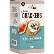Salt & pepper Crackers Glutenfria 100g Finax