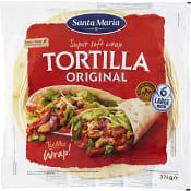 Wrap tortilla 6-p 371g Santa Maria