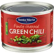 Hackad Green chili Mild 113g Santa Maria