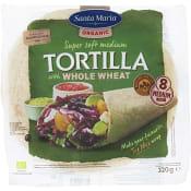 Tortilla Fullkorn 8-p Ekologisk 320g Santa Maria