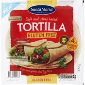 Tortilla Glutenfri 4-p 224g Santa Maria