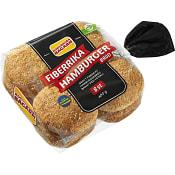 Hamburgerbröd Fiberrika 8-p 480g Korvbrödsbagarn