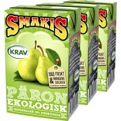 Fruktdryck Päron 25cl 3-p KRAV Smakis
