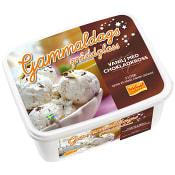 Gräddglass Gammaldags Vanilj med chokladkross 2l Triumf Glass