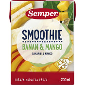 Smoothie Banan & mango Från 12m 200ml Semper