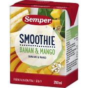 Smoothie Banan & mango Från 12m 200ml Semper