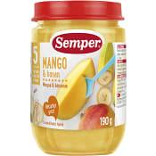 Mango & banan Från 5-6m 190g Semper