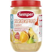 Solskensfrukt med yoghurt Från 8m 190g Semper