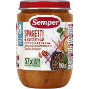 Spagetti med köttfärssås Från 8m 190g Semper