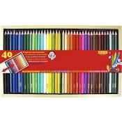 Träfärgpennor 40-p Sense