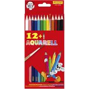 Akvarellfärgpennor med pensel 12-p Sense