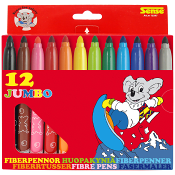 Fiberpennor Jumbo 12-p Sense