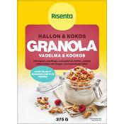 Granola Hallon & kokos 375g Risenta