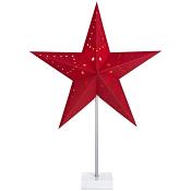 Stjärna på fot Jenny Röd 60cm ICA