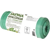 Avfallspåse Återvunnen plast Grön ICA Skona