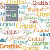 Servett Grattis 33cm 20-p ICA