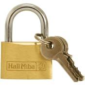 Hänglås Mässing 30mm Hall Miba