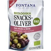 Snacksoliver Vitlök & örter Ekologisk 50g Fontana