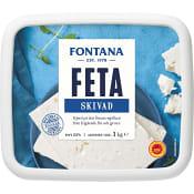 Fetaost Original skivad 1kg Fontana