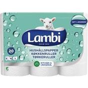 Hushållspapper 6-p Miljömärkt Lambi