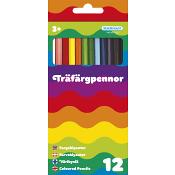 Träfärgpennor 12-p Kärnan