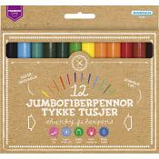 Fiberpennor Jumbo 12-p Premium Kärnan