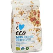 Müsli Naturell Ekologisk 750g ICA I love eco