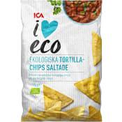 Tortillachips Lättsaltade Ekologisk 125g ICA I love eco