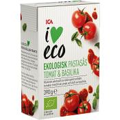 Pastasås Basilika Ekologisk 390g ICA I love eco