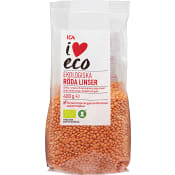 Röda linser Ekologisk 400g ICA I love eco