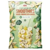 Frukt till smoothies Mango ananas banan Fryst 500g ICA