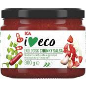 Chunky salsa Ekologisk 300g ICA I love eco