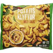 Potatisklyftor med skal Fryst 800g ICA