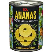 Ananasskivor i juice 567g ICA