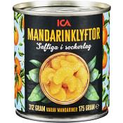 Mandarinklyftor i sockerlag 312g ICA