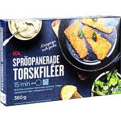 Sprödpanerad torskfilé 4-p Fryst 360g ICA