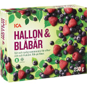 Hallon & blåbär Fryst 250g ICA
